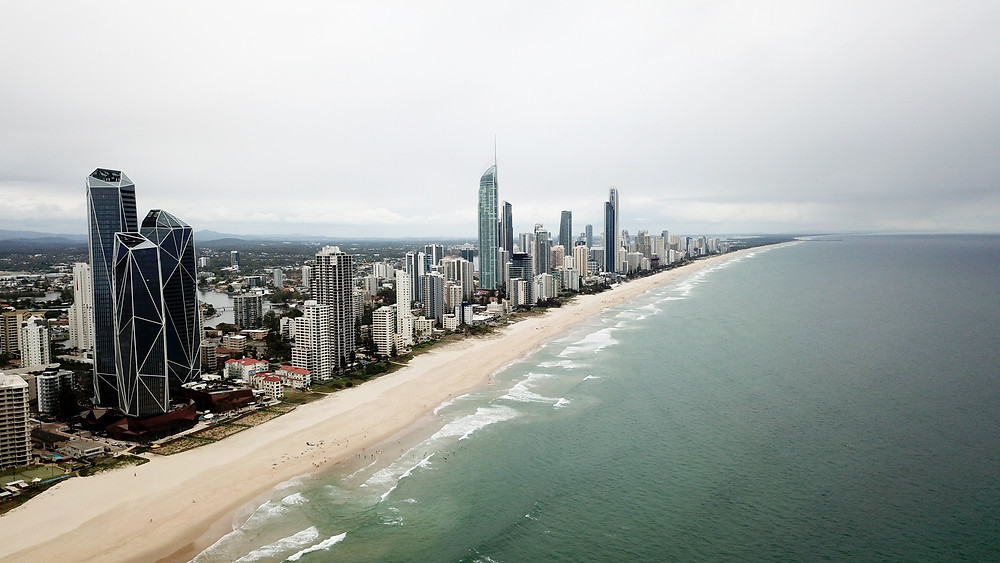 Gold Coast - Surfers Paradise from drone