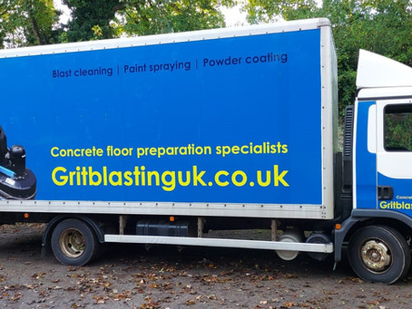 Concrete floor preparation - Gritblasting has new mobile unit