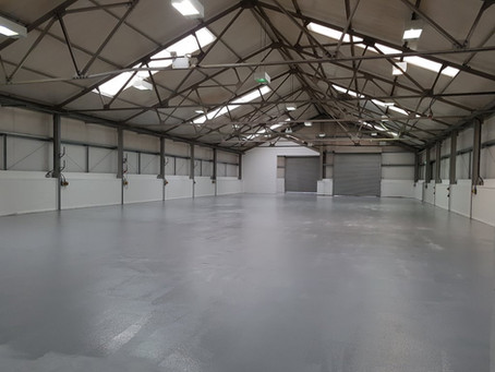 Concrete floor preparation - industrial unit