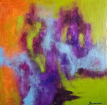 Quartet 2, 2020 12x12 acrylic on canvas.