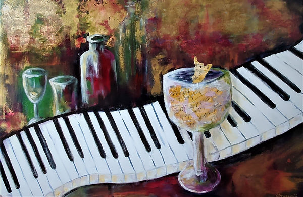 Music Series Piano Cocktail 24x36 acryli