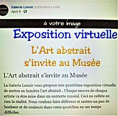 April 9, 2020 Galerie Lenoir - L'Art abs