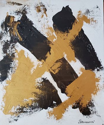 Black&Gold 3 H 10x12 acrylic cardboard 2