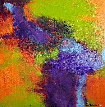 Quartet 1, 2020 12x12 acrylic on canvas.