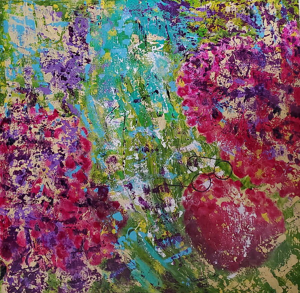 Strawberry Fields Forever 30x30 acrylic