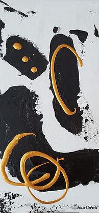 Black&Gold 5 12x6 acrylic cardboard 2021