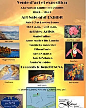 Invitation to a summer art exhibition an