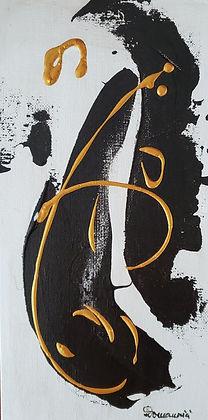 Black&Gold 4 12x6 acrylic cardboard 2021