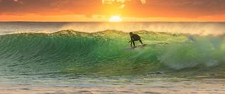Surfing off Kuta Beach
