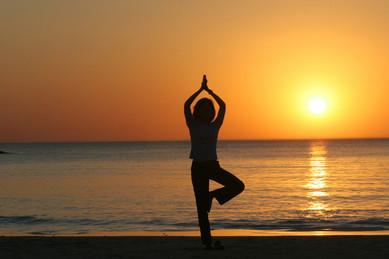 Yoga sunrise