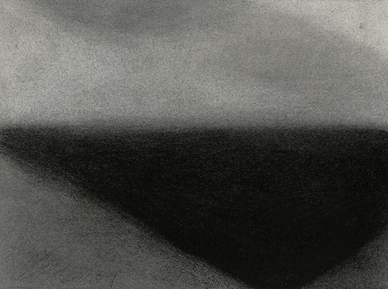 Abstract landscape, Tofino, Vancouver Island, charcoal on paper, drawing