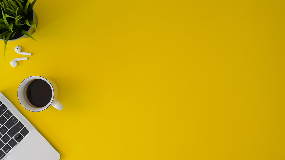top-view-photo-of-coffee-on-yellow-surfa