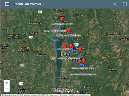 Mapa Cicloviário de Palmas