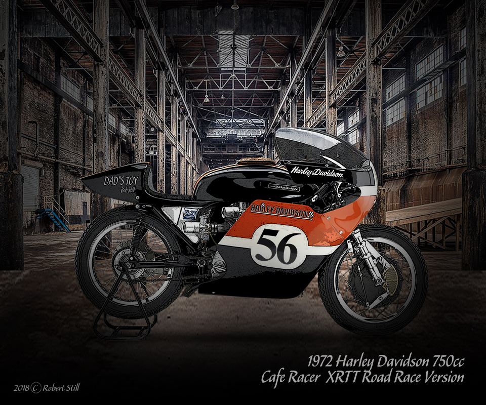 1972 Harley Davidson XRTT Road Race Vers
