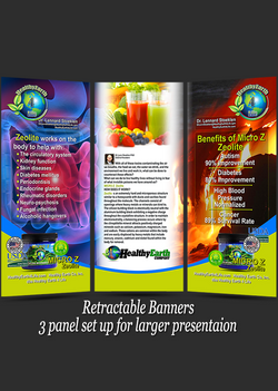 Branded 3 PANEL retractable Banners