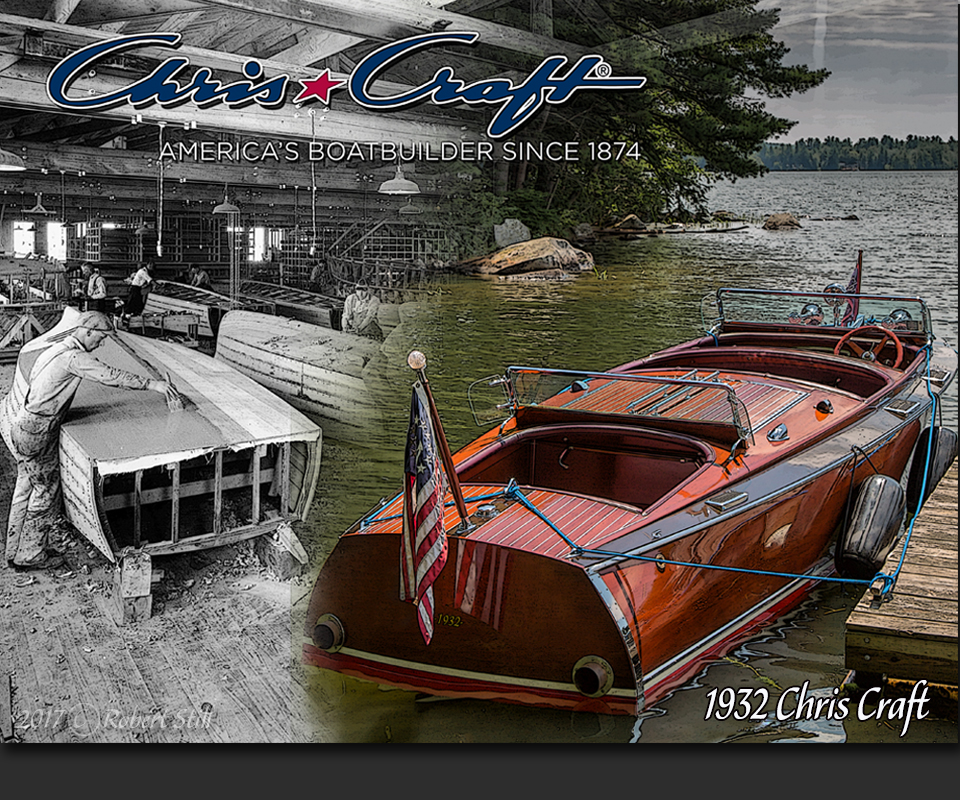 1932 Chris Craft Wooden Speed Boat