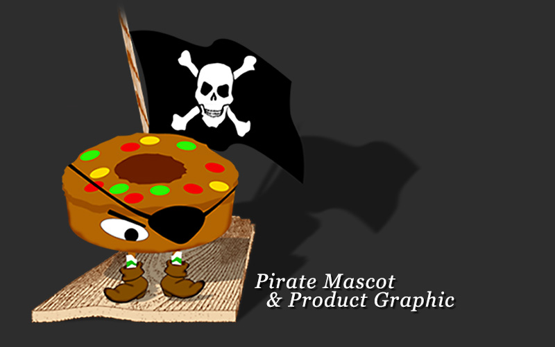 Pirate Mascot  & Product Graphic 0913201