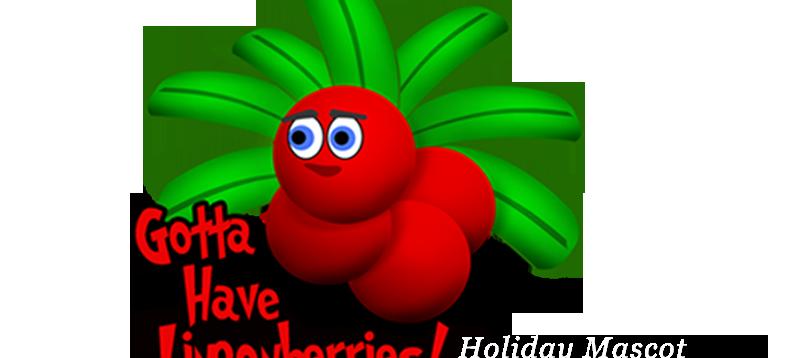 Lingon Berries Mascot