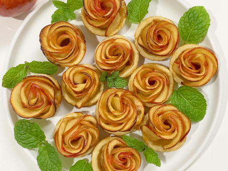 Mini Apple Pie Roses (Vegan)