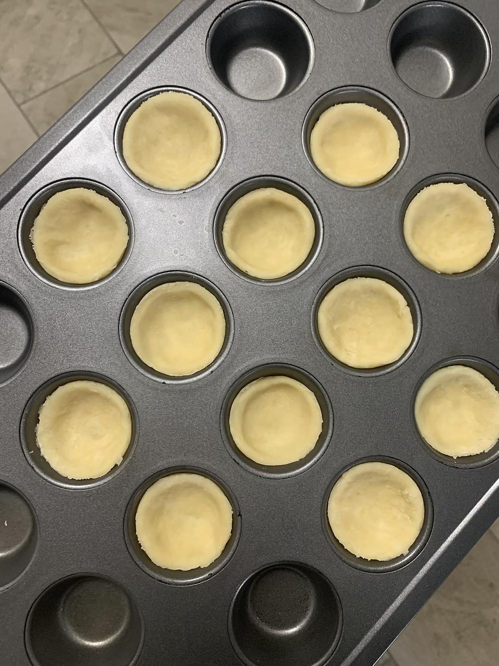Pie crust in mini-muffin tin