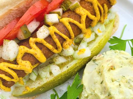 Homemade Vegan Hot Dogs