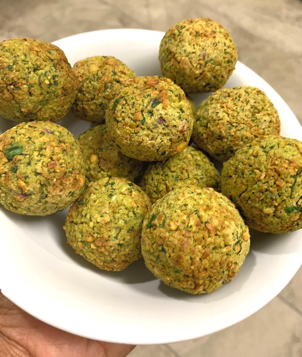 Air-fried falafel
