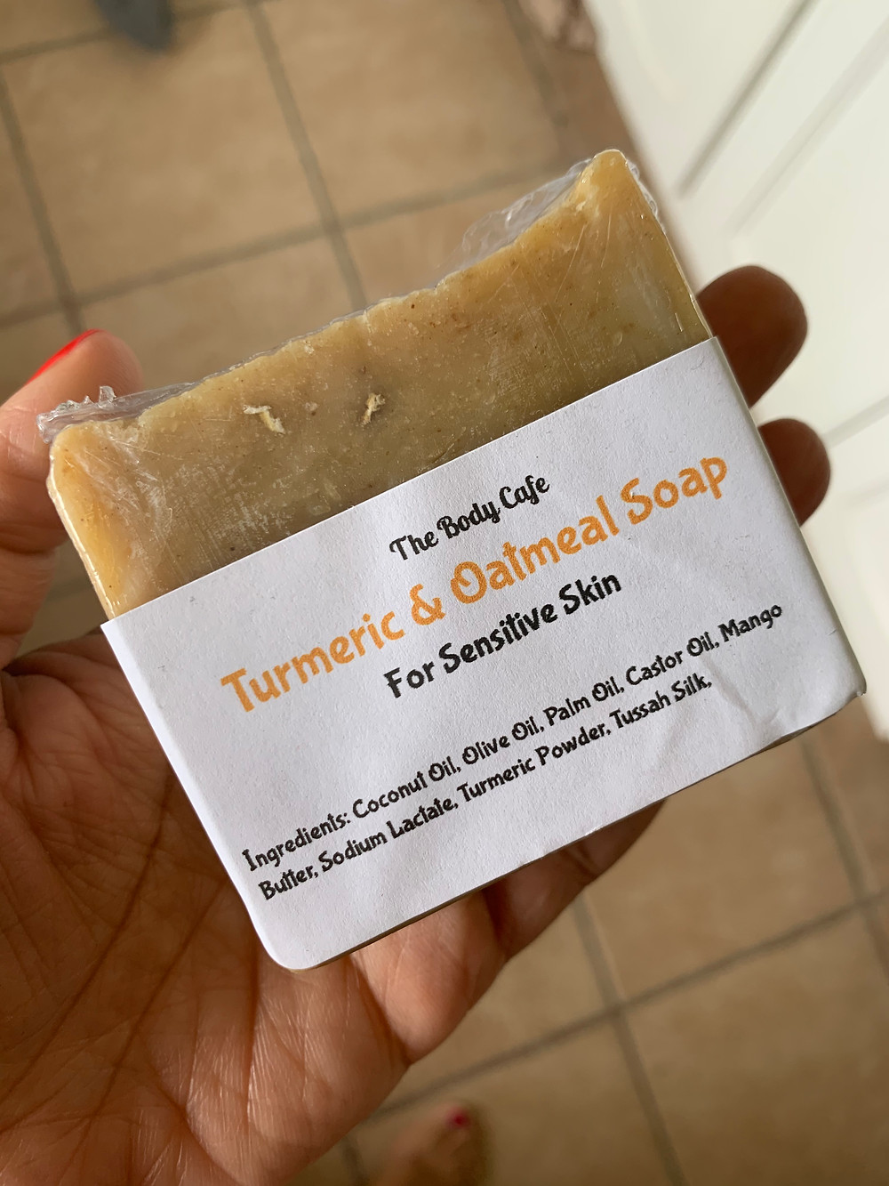Turmeric and oatmeal soap