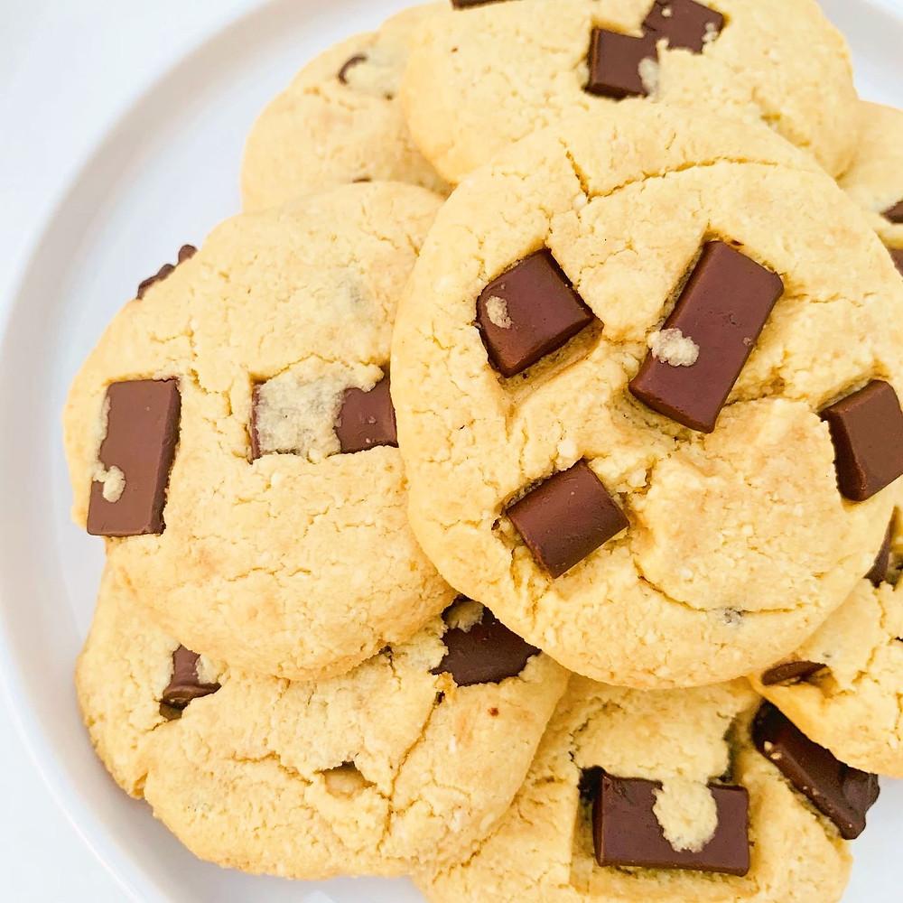 Vegan Chunky Chocolate Chip Cookies
