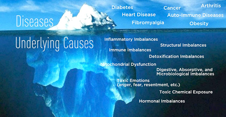 Root cause, chronic disease, diabetes, illness, health, cancer, overweight, weight loss, arthritis, auto-immune, heart disease, pain, fibromyalgia, inflammation