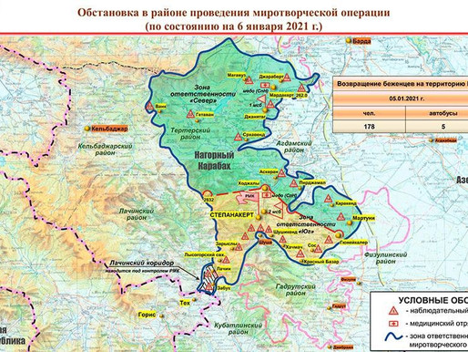 Peacekeeping Map Russian Federation for 06/01/2021-Artsakh