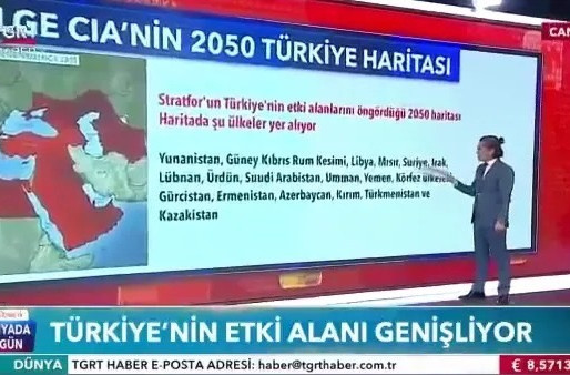 🇹🇷Turkish state TV broadcast a map for 2050: