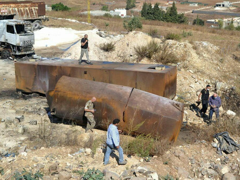 Lebanese Tragedy 28 casualties and about 80 wounded in the explosion of a petrol tank at night