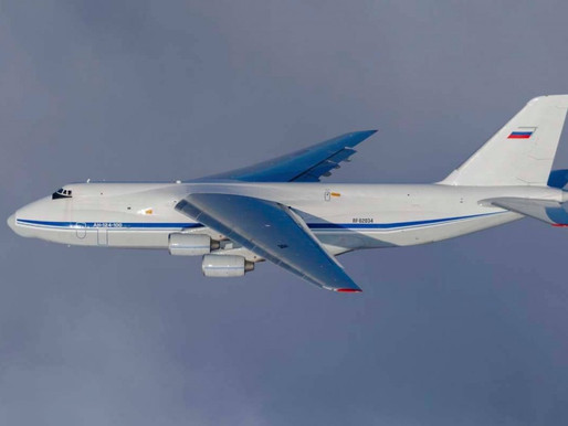 Russia, six An-124-100 Ruslan military transport aircraft simultaneously took to the skies