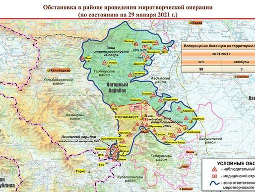 🇷🇺 Artsakh peacekeeping  for 1/29: