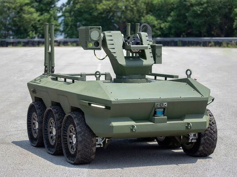 Hyundai Rotem handed over two HR-Sherpa prototype multipurpose unmanned ground vehicles (MPUGVs)