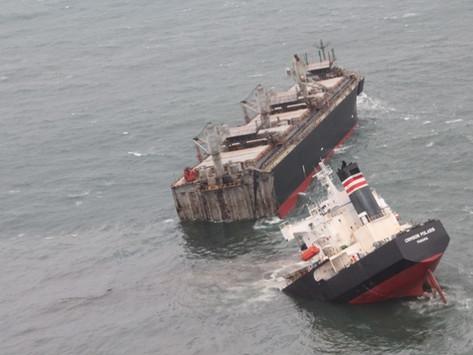 Sea of Japan Oil leak as Freighter Splits in Two