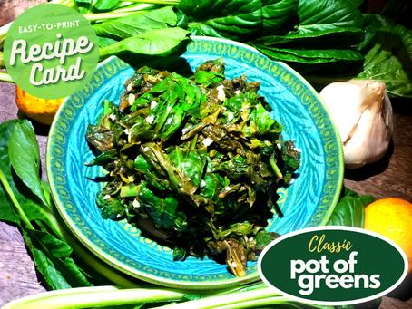 Recipe Card - Pot of Greens
