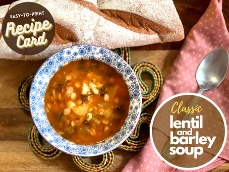 Recipe Card - Classic Lentil and Barley Soup