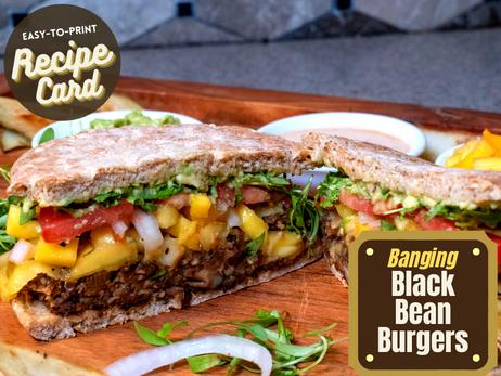Recipe Card - Banging Black Bean Burgers