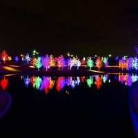 Colorful holiday light displays