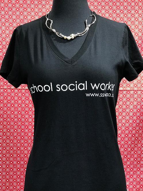 Simple - School Social Work Tshirt (Women's Cut)