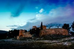 santuari de foix sunset blue hour