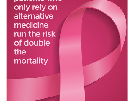 Don't rely only on complementary medicine for cancer