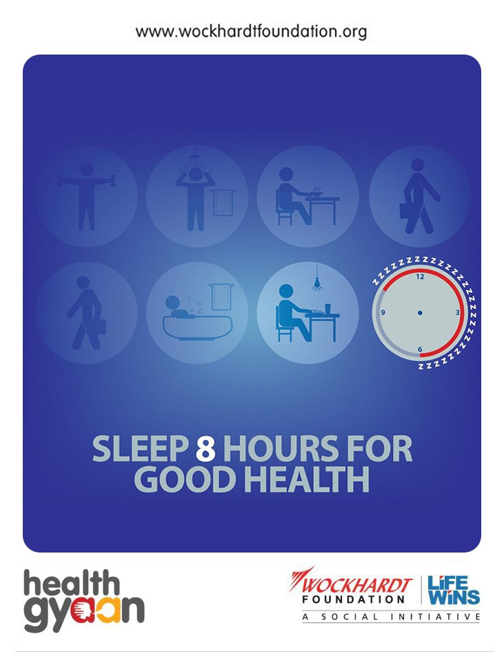 Sleep 8 hours for good health
