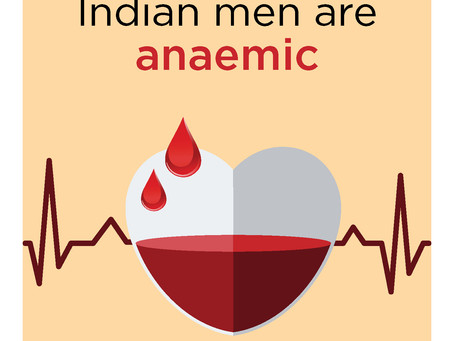 Half of urban Indian males are anaemic