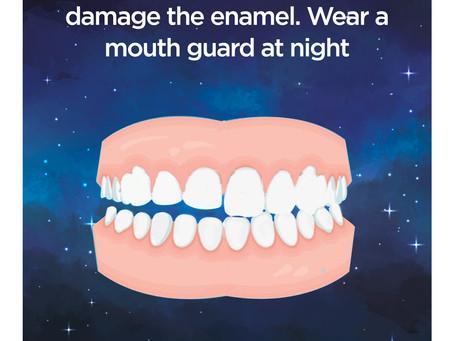 Teeth grinding in sleep damages enamel