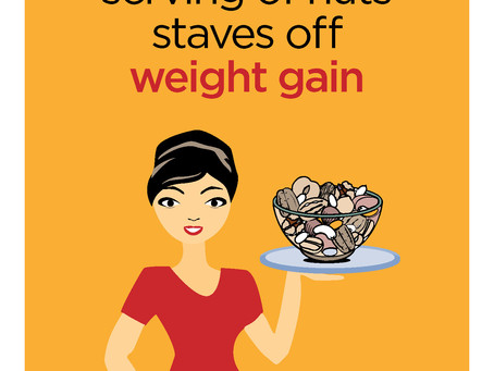 A daily serving of nuts staves off weight gain