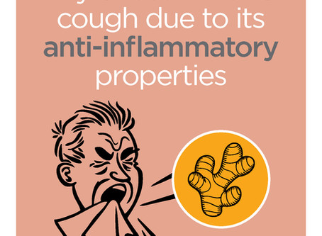 Anti-inflammatory action of ginger soothes cough