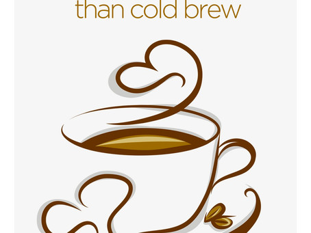 Cold brew coffee beaten cold by its hot counterpart