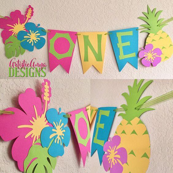guirnaldas para fiestas infantiles, decoracion hawaiana, decorar fiesta infantil, flores hawaianas, decorar fiesta de vaiana